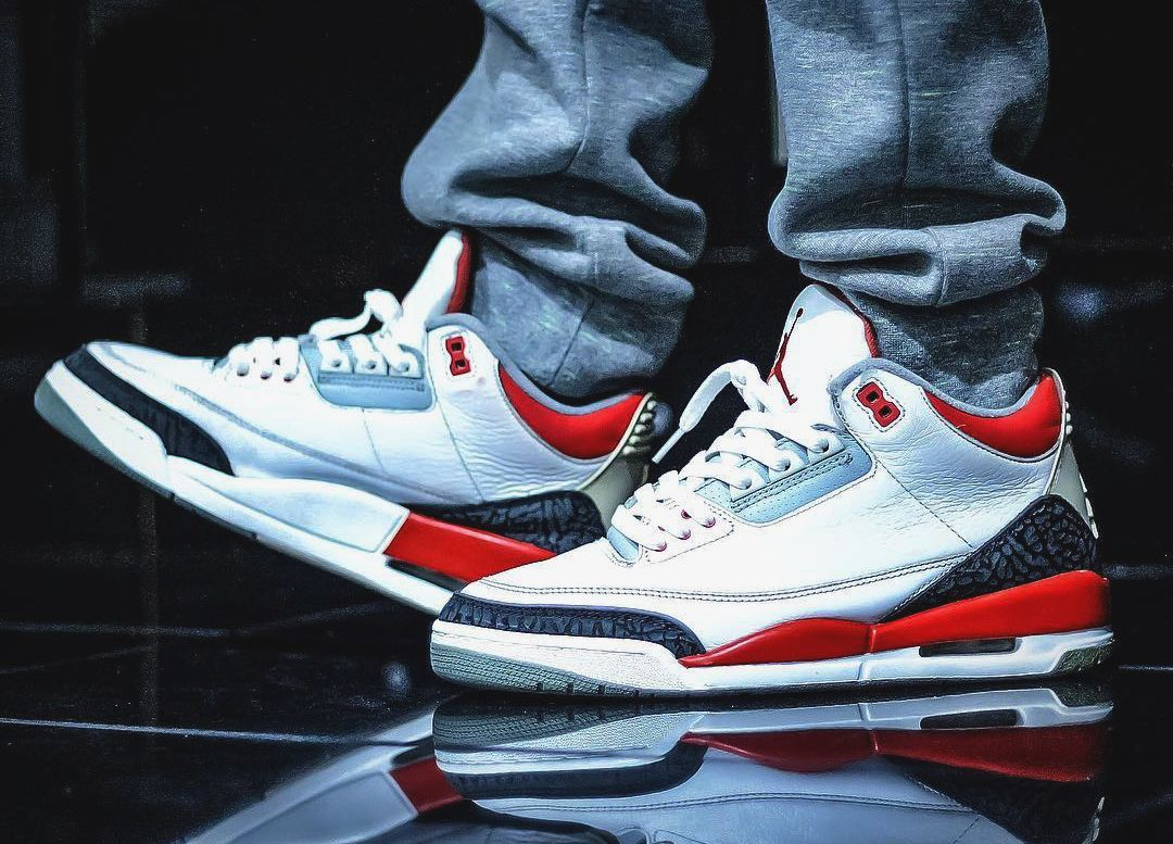 newest collection 991d6 9941f Nike Air Jordan III Fire Red (by solelove1)   Kicks   Pinterest