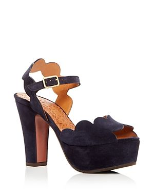 958b5110ee6c CHIE MIHARA WOMEN S XEVO SUEDE HIGH HEEL PLATFORM SANDALS.  chiemihara   shoes