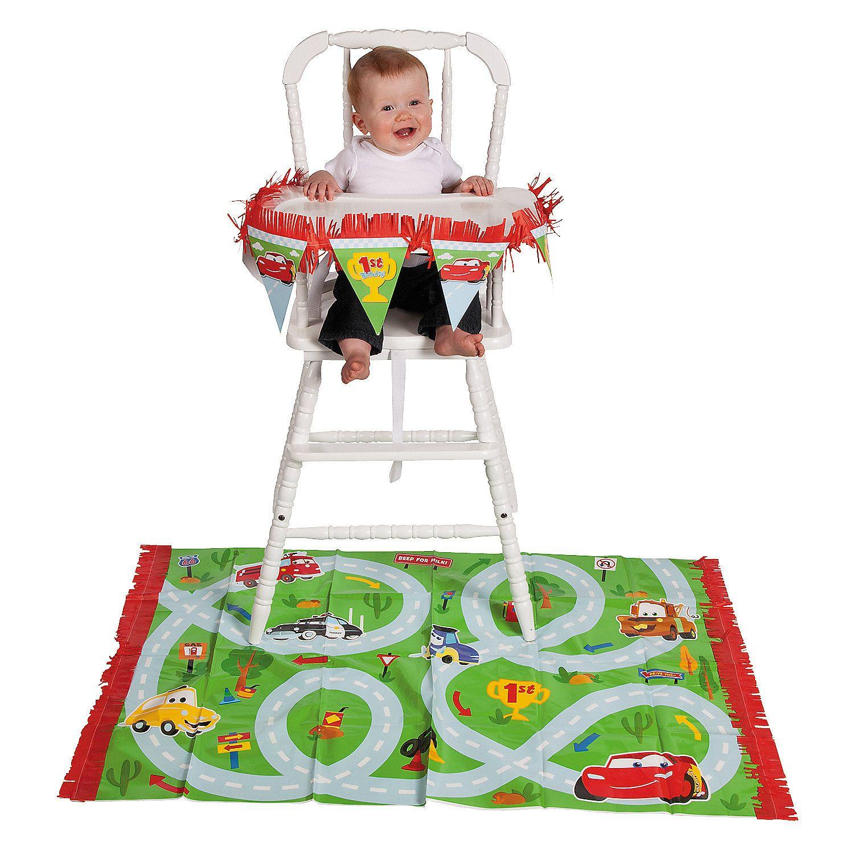 Disneys Cars 1st Birthday Champ High Chair Decorating Kit – Disney Cars High Chair