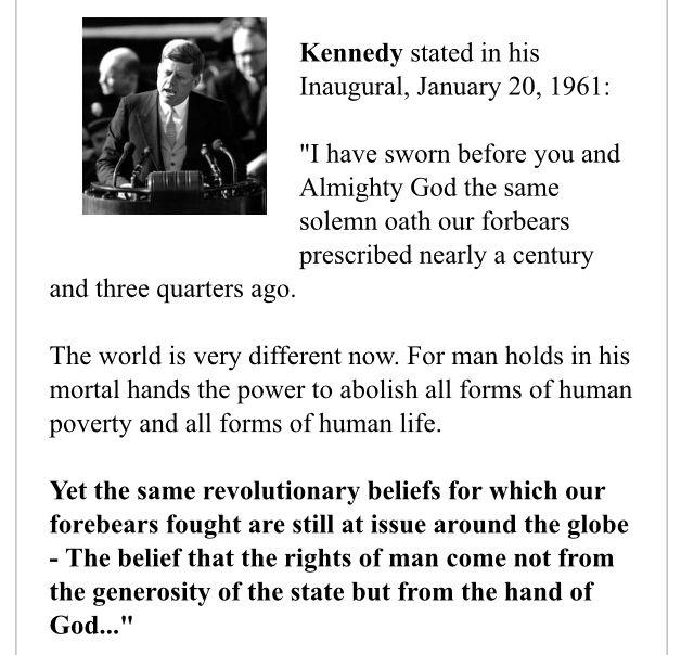 John F Kennedy John F Kennedy God Almighty Kennedy