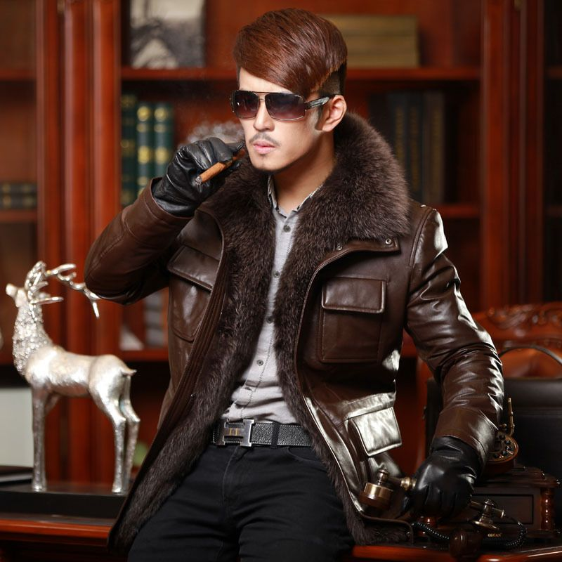Global Trend Alert - fur lined leather jacket with fur collar