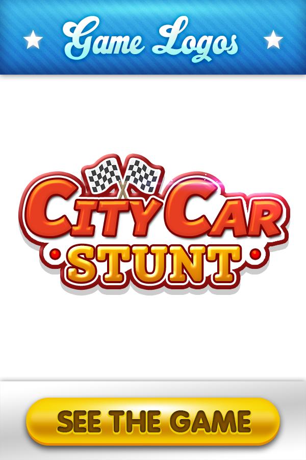 City Car Stunt game logo design. twoplayergames