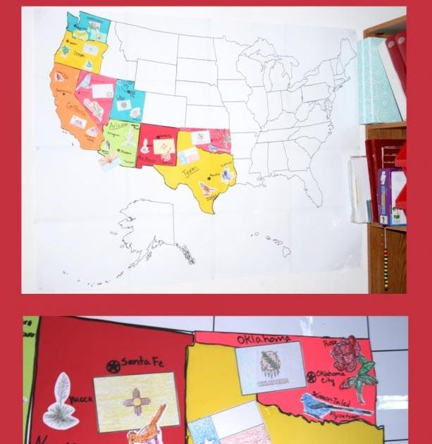 Bug and Monkey have been learning about the states. I found ...