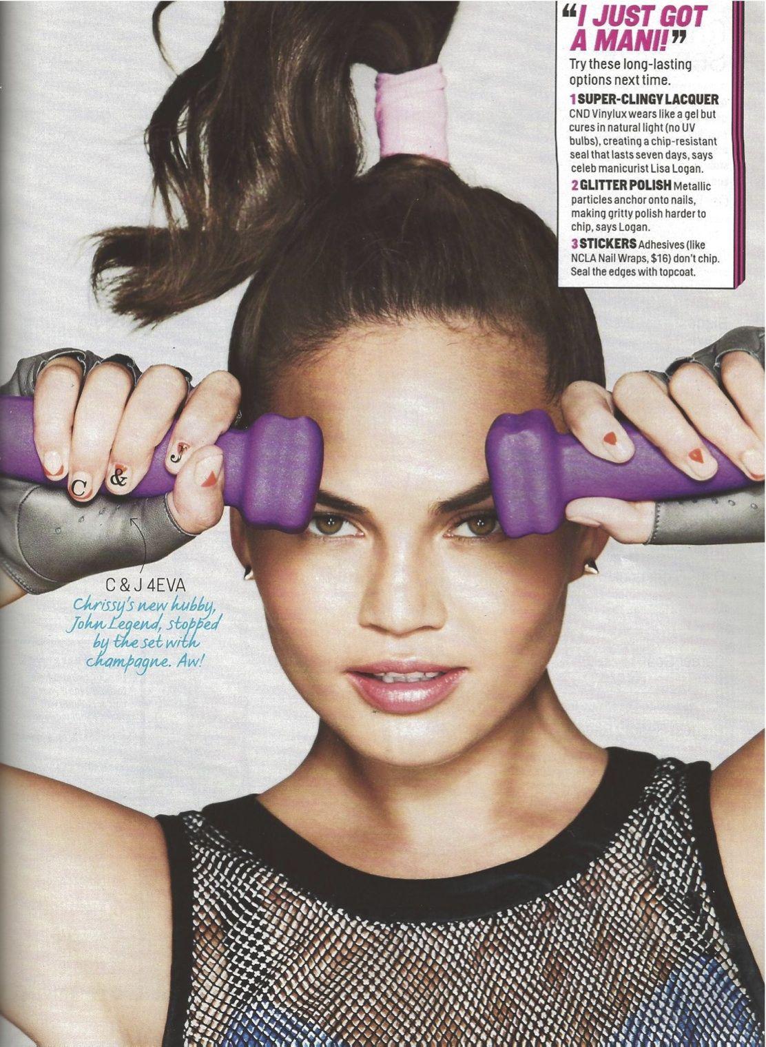 Causse fingerless gloves in Cosmopolitan US / Jan 14