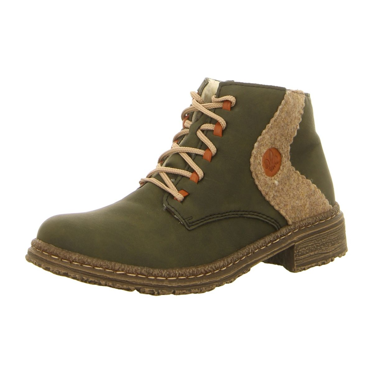 NEU  Rieker Stiefeletten 54233-54 - grün kombi -   Schuhe ... f8f079325a