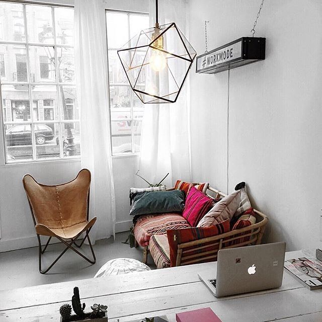 A Bright Happy Corner From Hashtag Workmodes Amsterdam Co Working Space Via