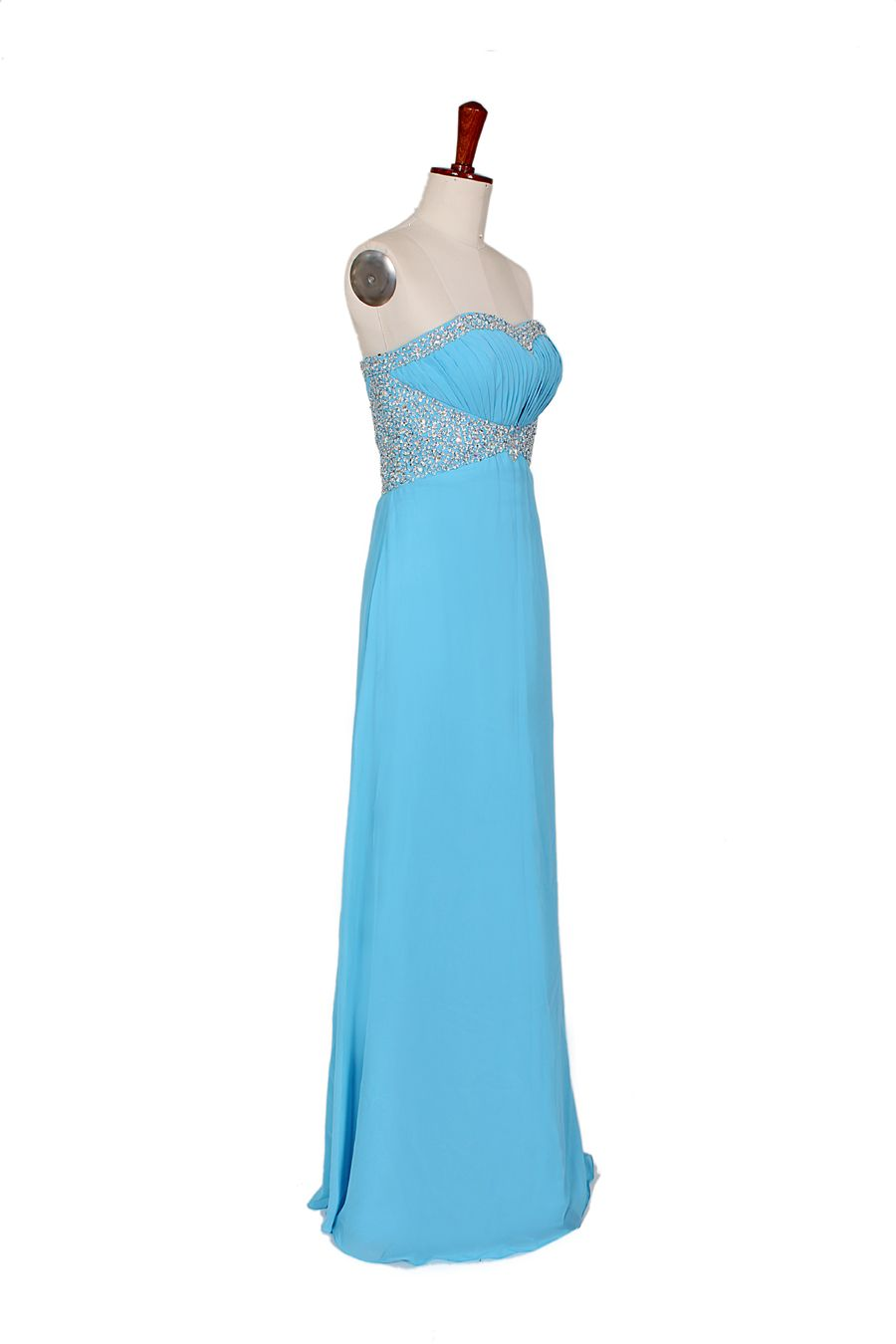 Strapless Beading Neckline Empire Waist Chiffon Dress   gorgeous ...