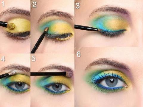 maquiller des yeux bleu