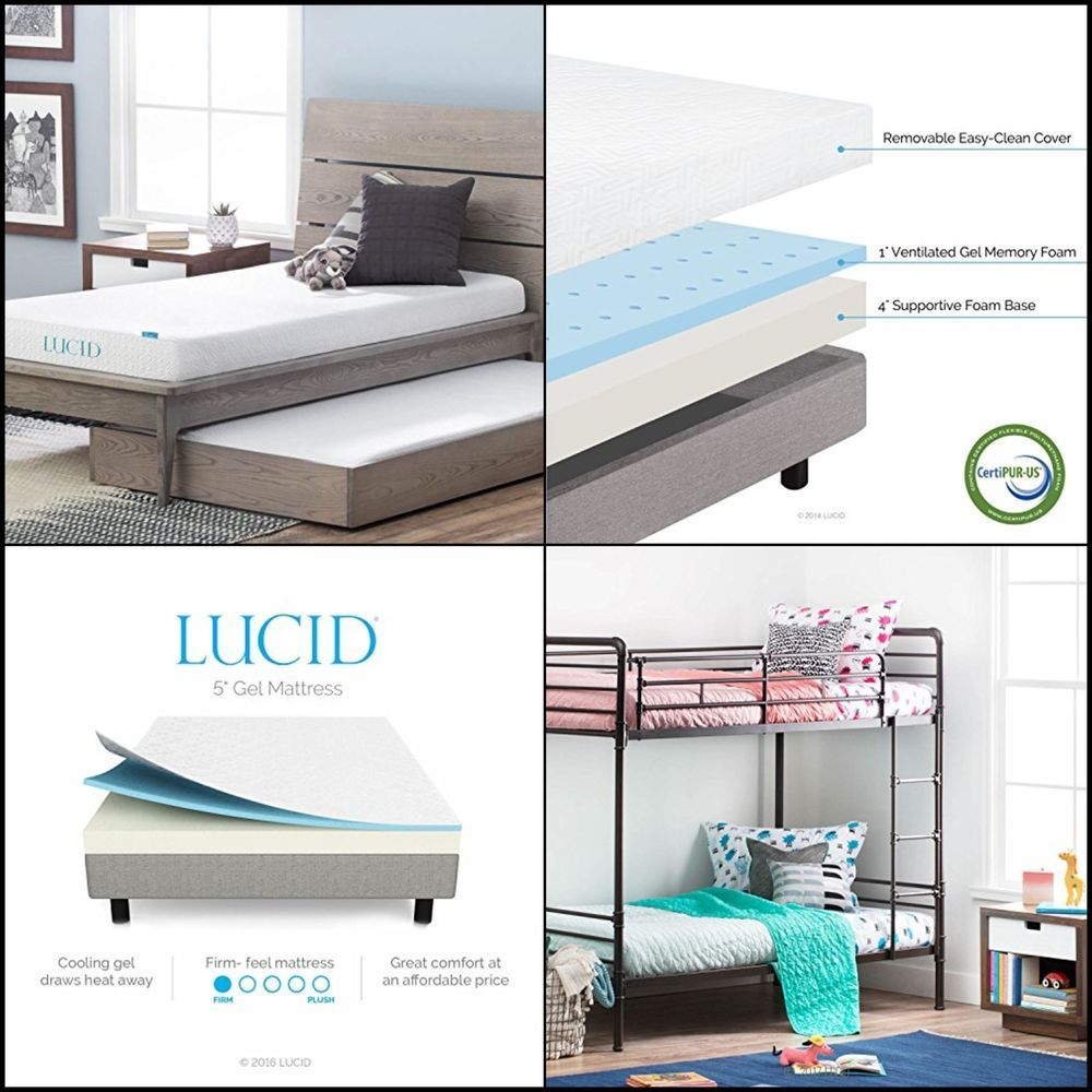 5 gel memory foam mattress dual layered firm feel twin size high
