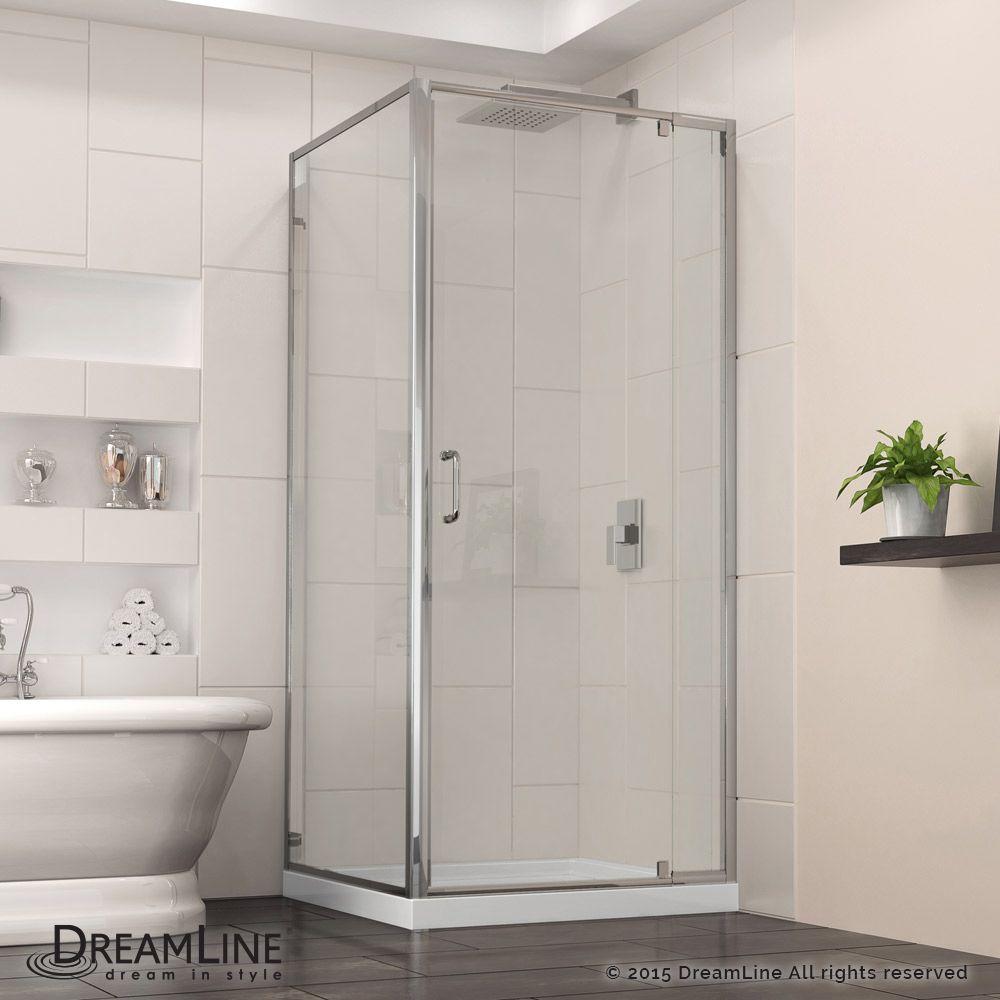 DreamLine DL-6972C-04FR Flex 32-in. W x 32-in. D x 74-3/4-in. H ...