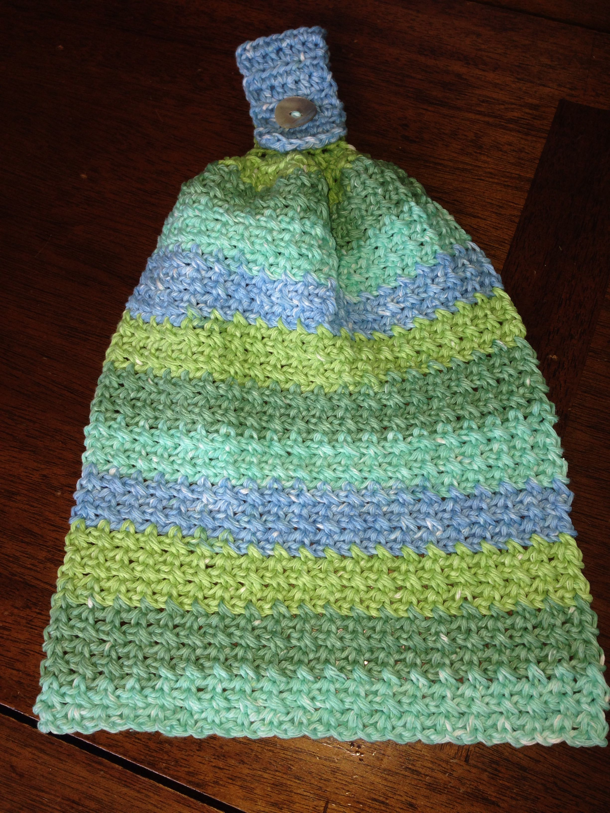 Hanging Towel Crochet Dish Towels Crochet Kitchen