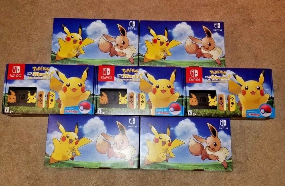 nintendo switch pikachu and eevee edition console