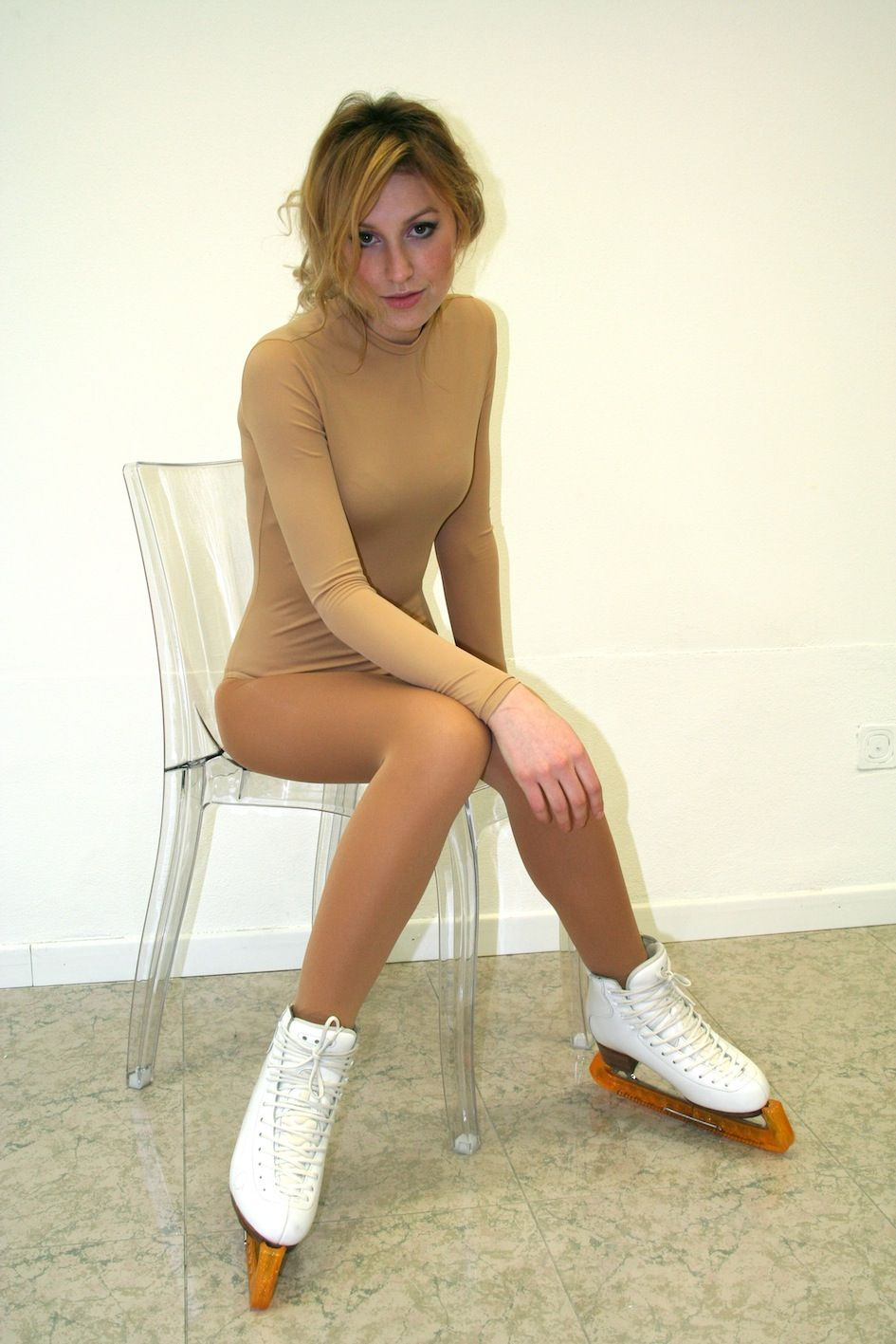 Figure skating pantyhose