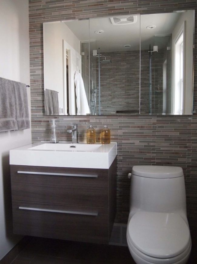 10 Trucos de diseño para un cuarto de baño pequeño | Deko und Häuschen