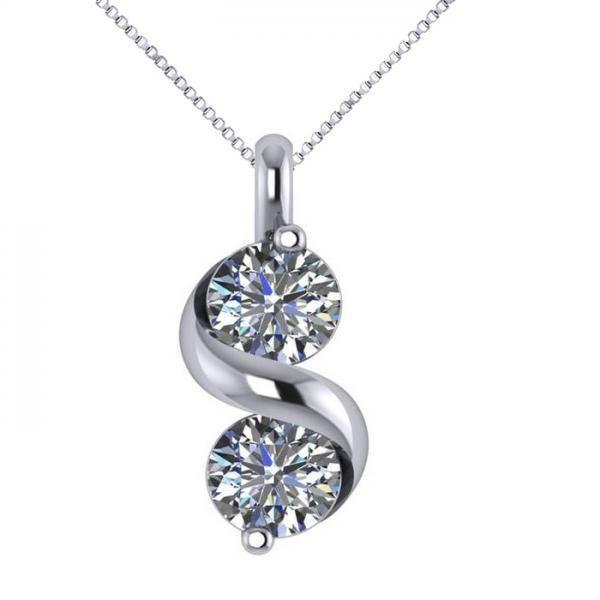 Allurez 14kt White Gold Diamond Vintage Pendant - 16 Inches Qb9a1QO