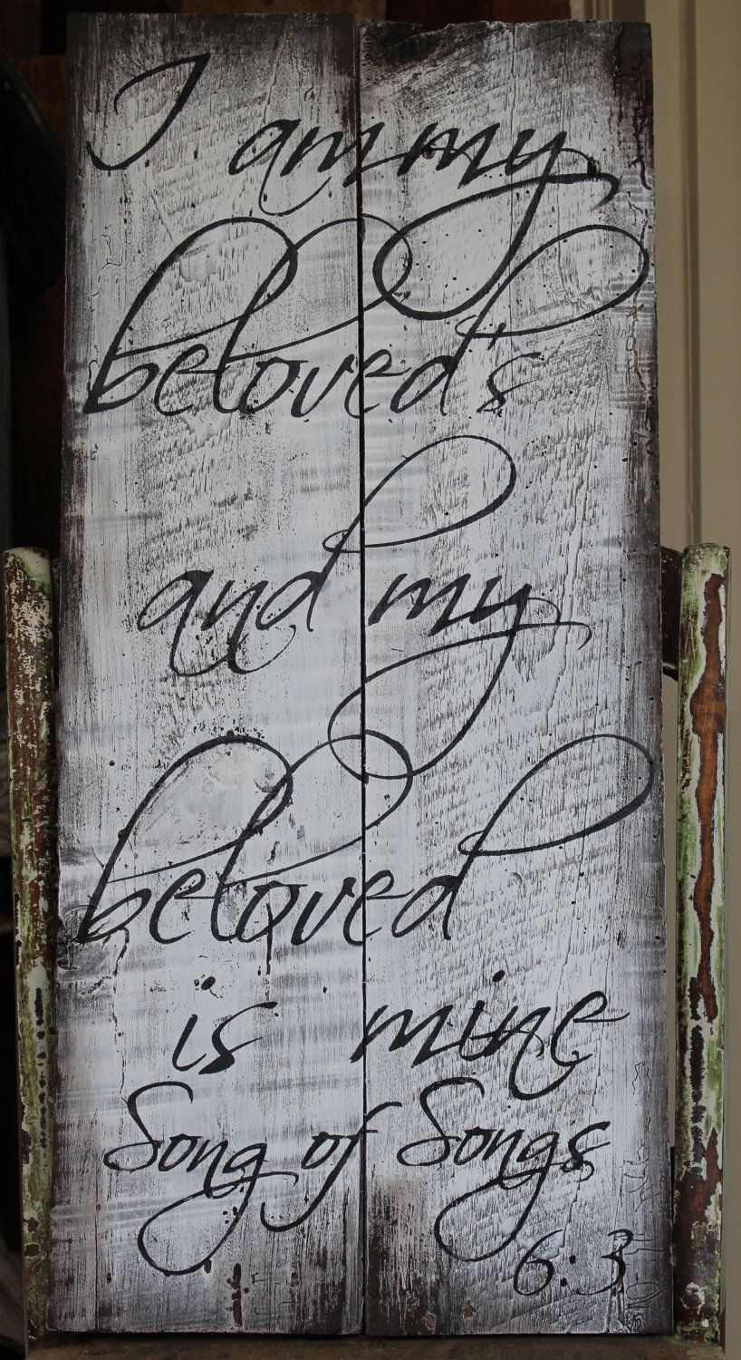 Handpainted Barn Wood with Bible verse sign, rustic, vintage, shabby ...