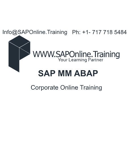 SAP Online Training Offering Corporate Online Training Services on SAP MM ABAP. Training Services For Both Individuals and Corporate.For Individuals Fast Track   WeekDays   WeekEnd Training Avilable.For Corporate Companies We are Offering Online and In-House Training Services. Contact :- Info@SAPOnline.Tr... Ph:- +1 717 718 5484 #SAP #MM #ABAP #Online #Training #Corporate #OnlineTraining