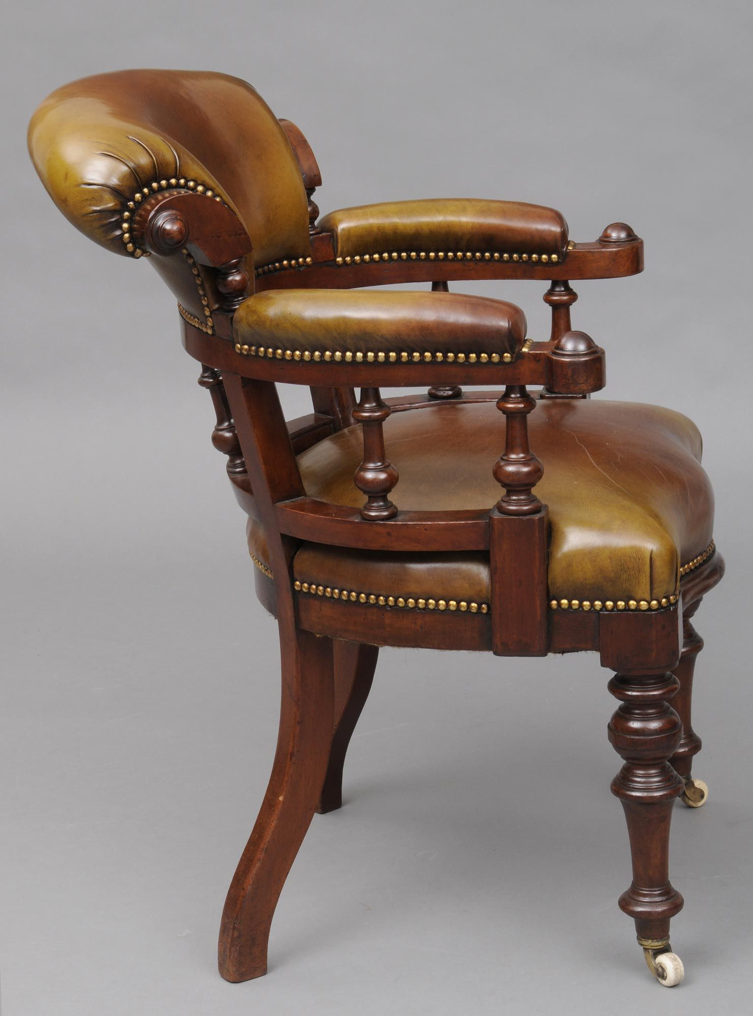 Mahogany Captains Chair C1870