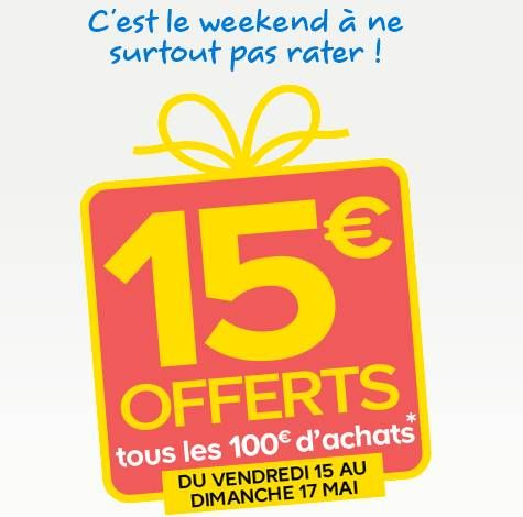 15 euros en bon d\u0027achat tous les 100 euros achats Castorama -   - les meilleurs plans de maison
