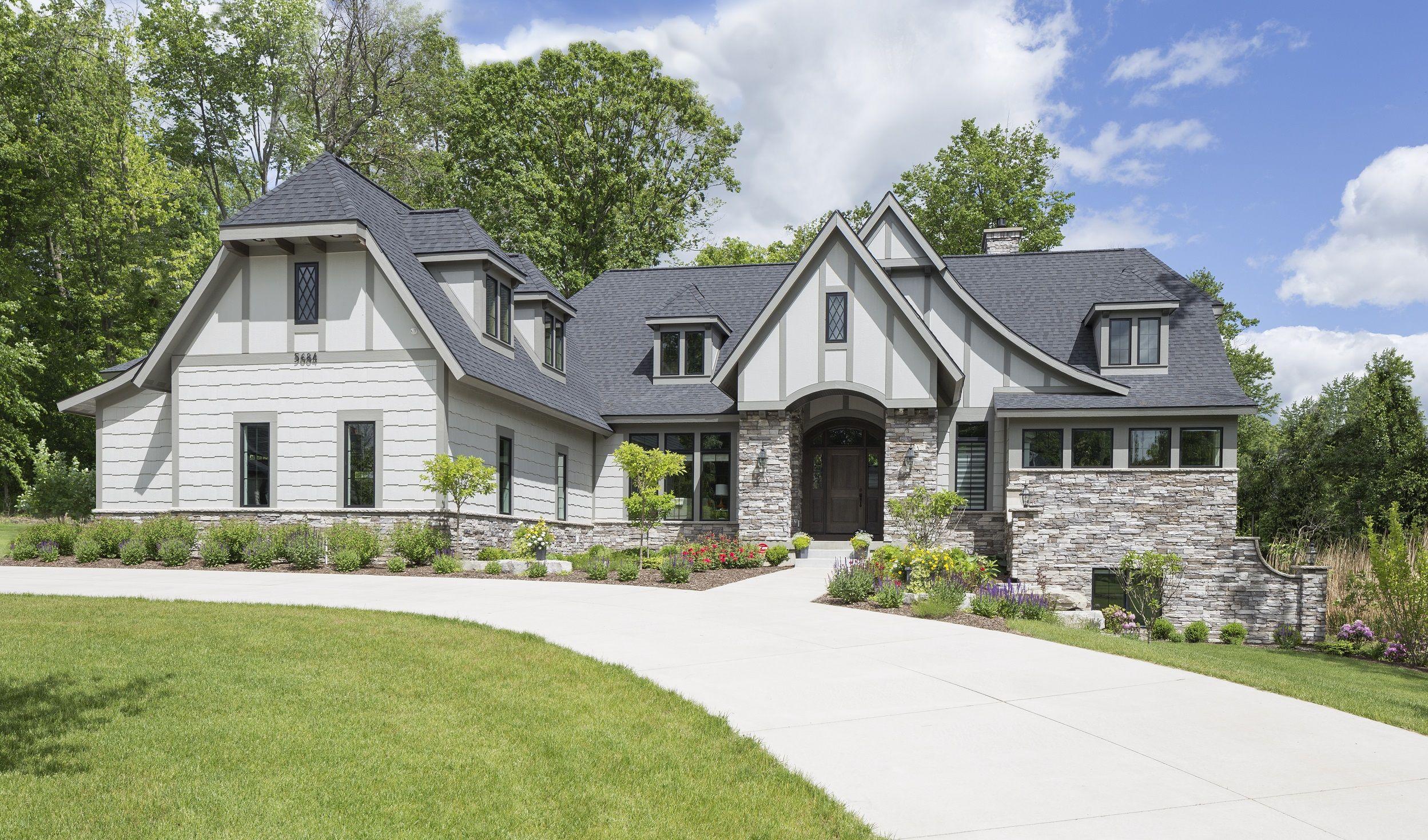 Tudor Style Residential Luxury House Plan - 5 Bedroom 35