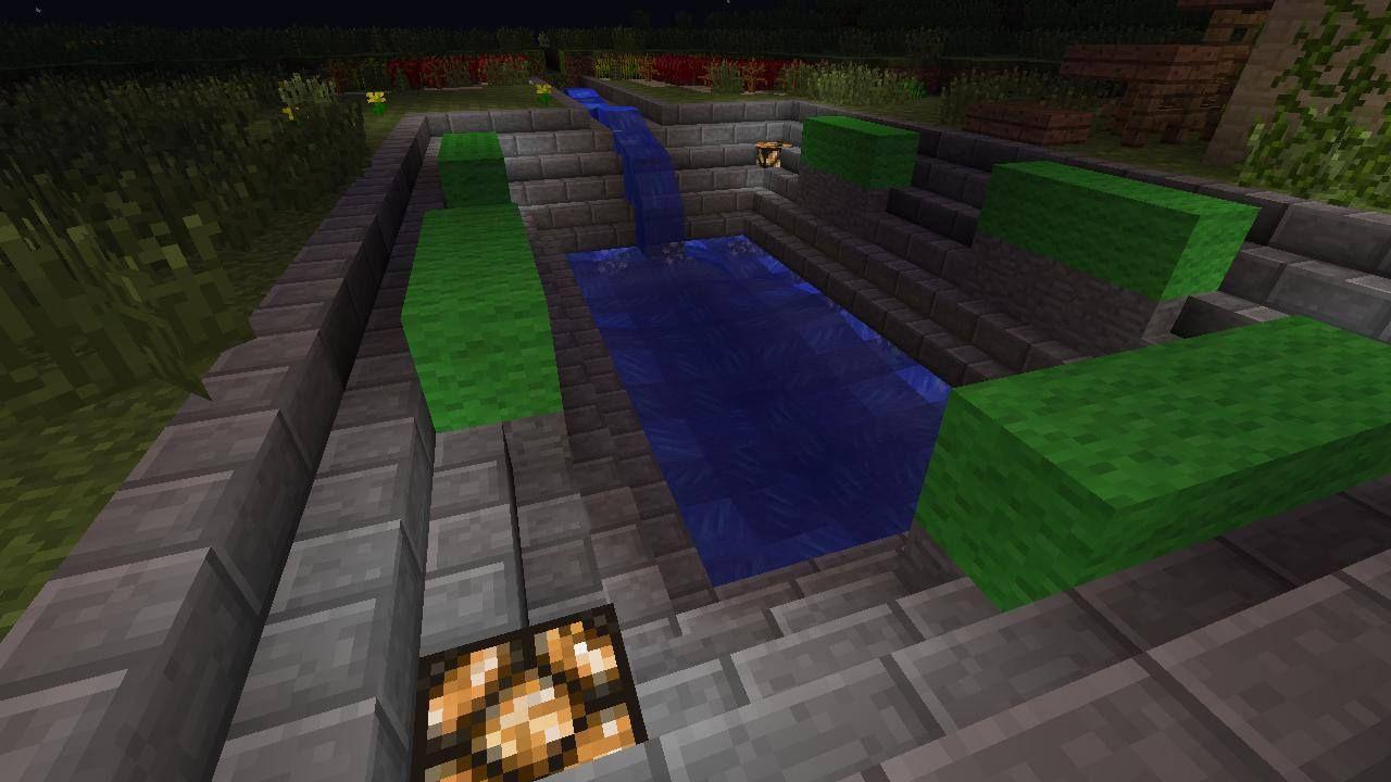 MineCraft sunken garden design/swimming pool design with ...