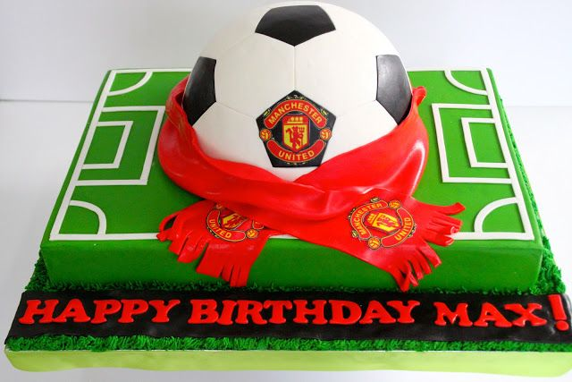 A Blog About Customized Cakes In Singapore Soccer Ball Cake Manchester United Cake Soccer Cake
