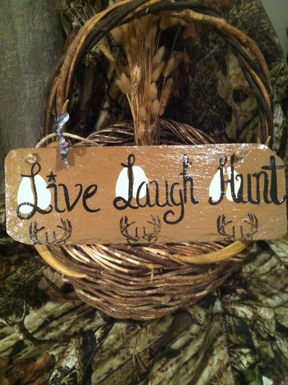 Home Decor Hunting Sign Deer Accents Wholesale Fall Yard Live Laugh Hunt