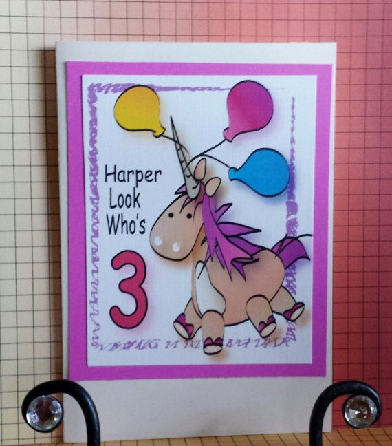 Unicorn Birthday Card and Matching Envelope by Celebrationz – Glee Birthday Card