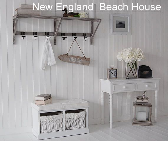 Hall furniture new england beach house hallway decorating - Beach house furniture ideas ...