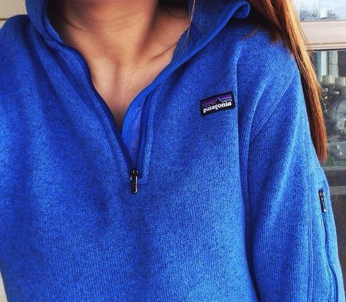 royal blue patagonia pullover | Women's Street Style | Pinterest ...