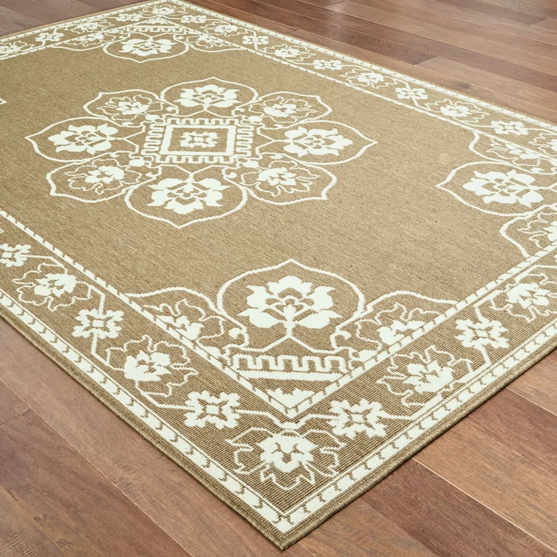 Salerno Power Loom Tan Ivory Rug In 2020 Rugs Round Area Rugs Area Rugs