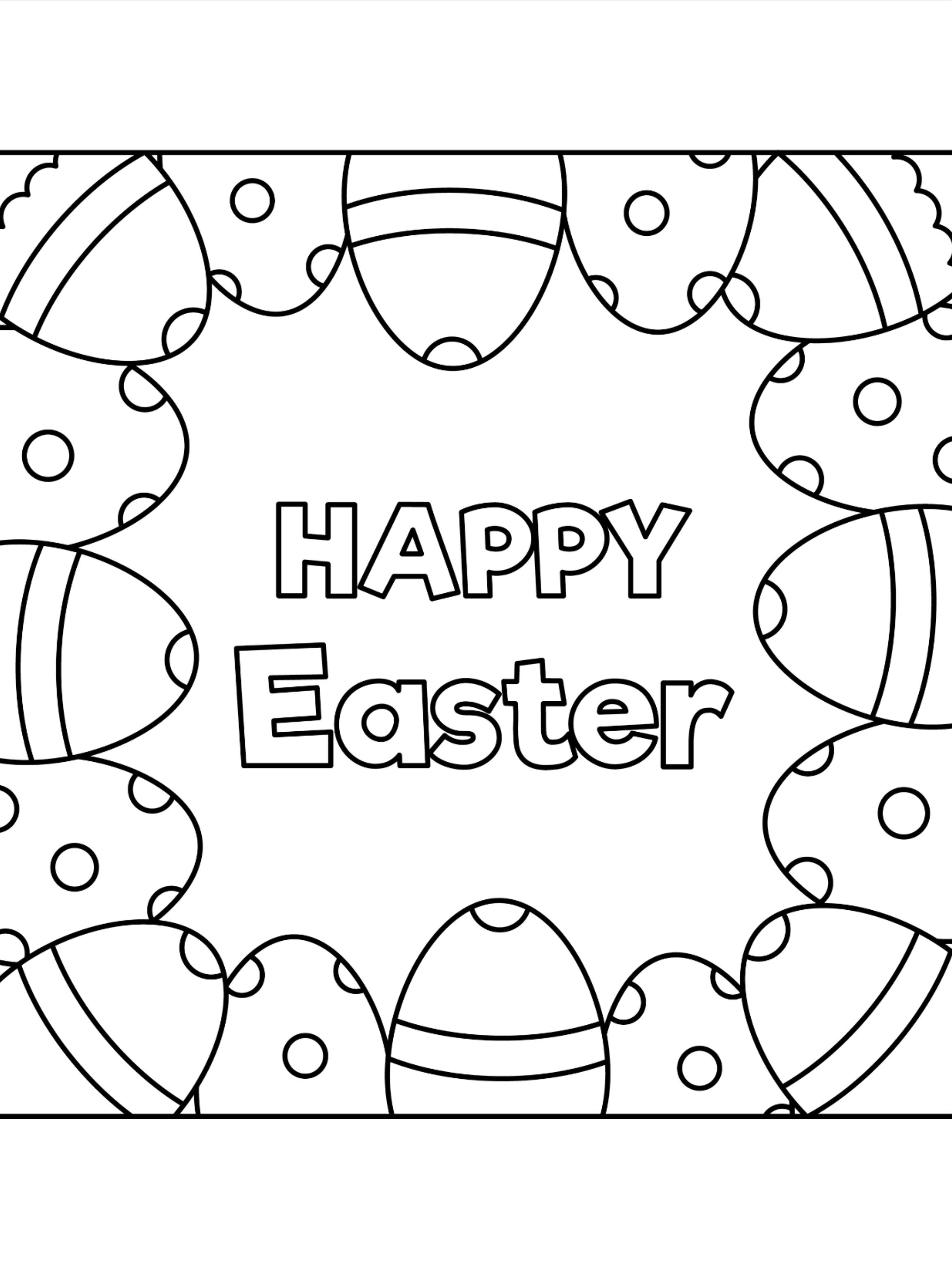Pin On 100 Easter Coloring Pages For Kids