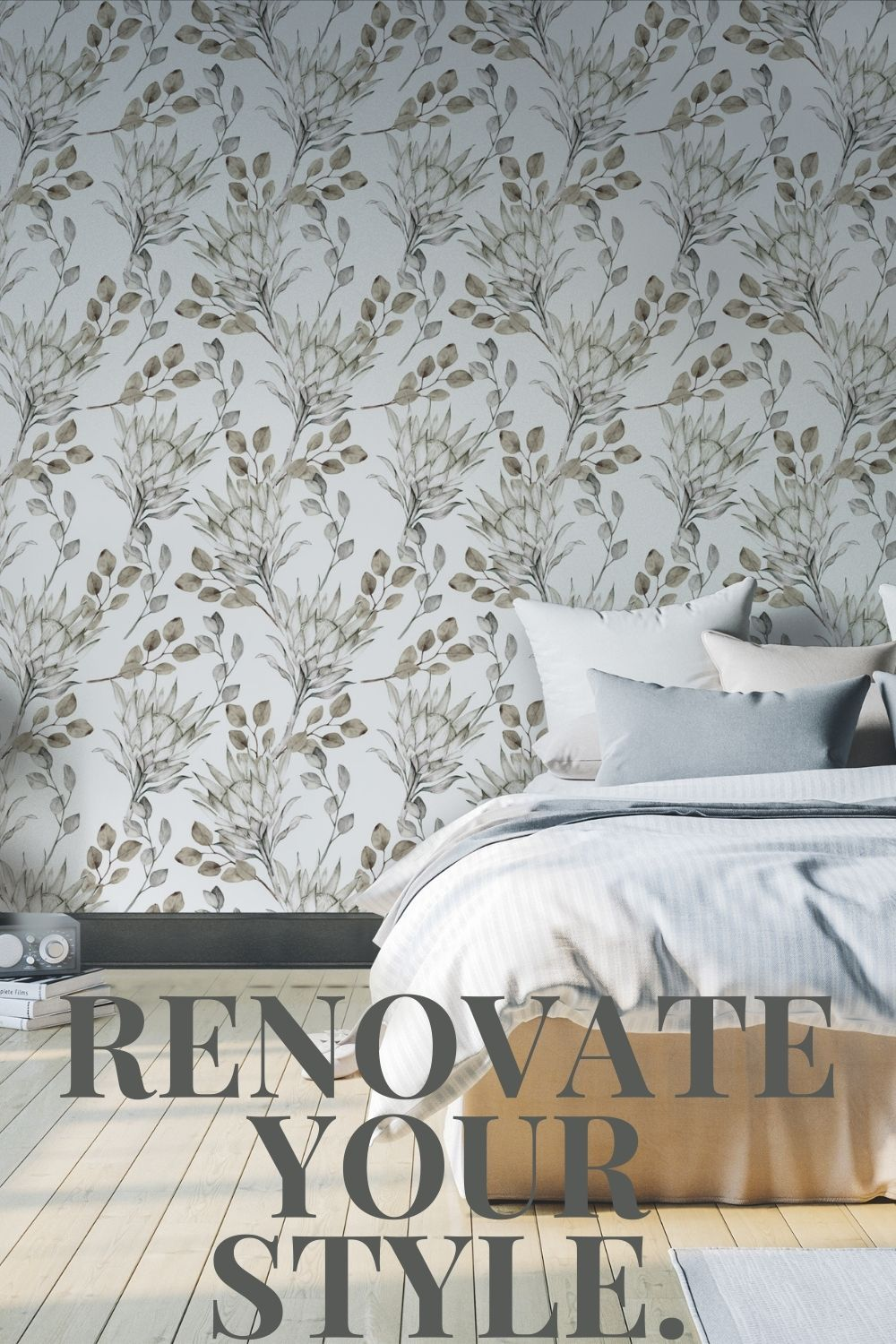 Tropical Wallpaper Peel And Stick Tropical Wallpaper White Etsy Home Wallpaper White Wallpaper Tropical Bedrooms