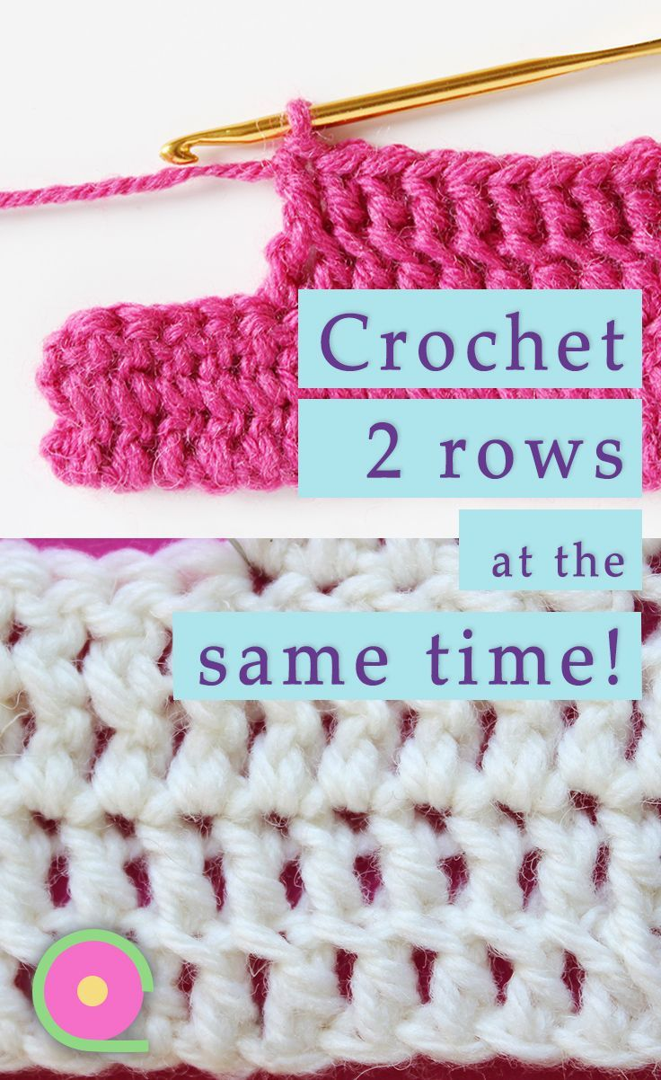 How to crochet two rows at the same time