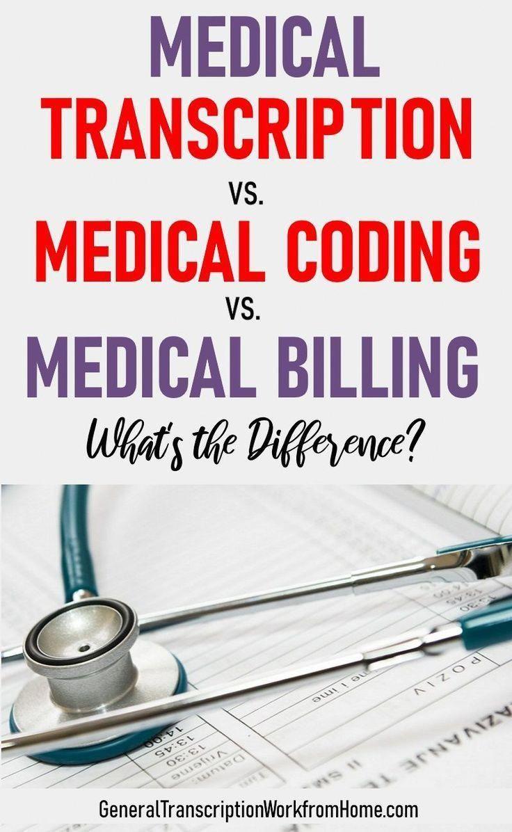 Medical transcription vs medical coding vs medical billing