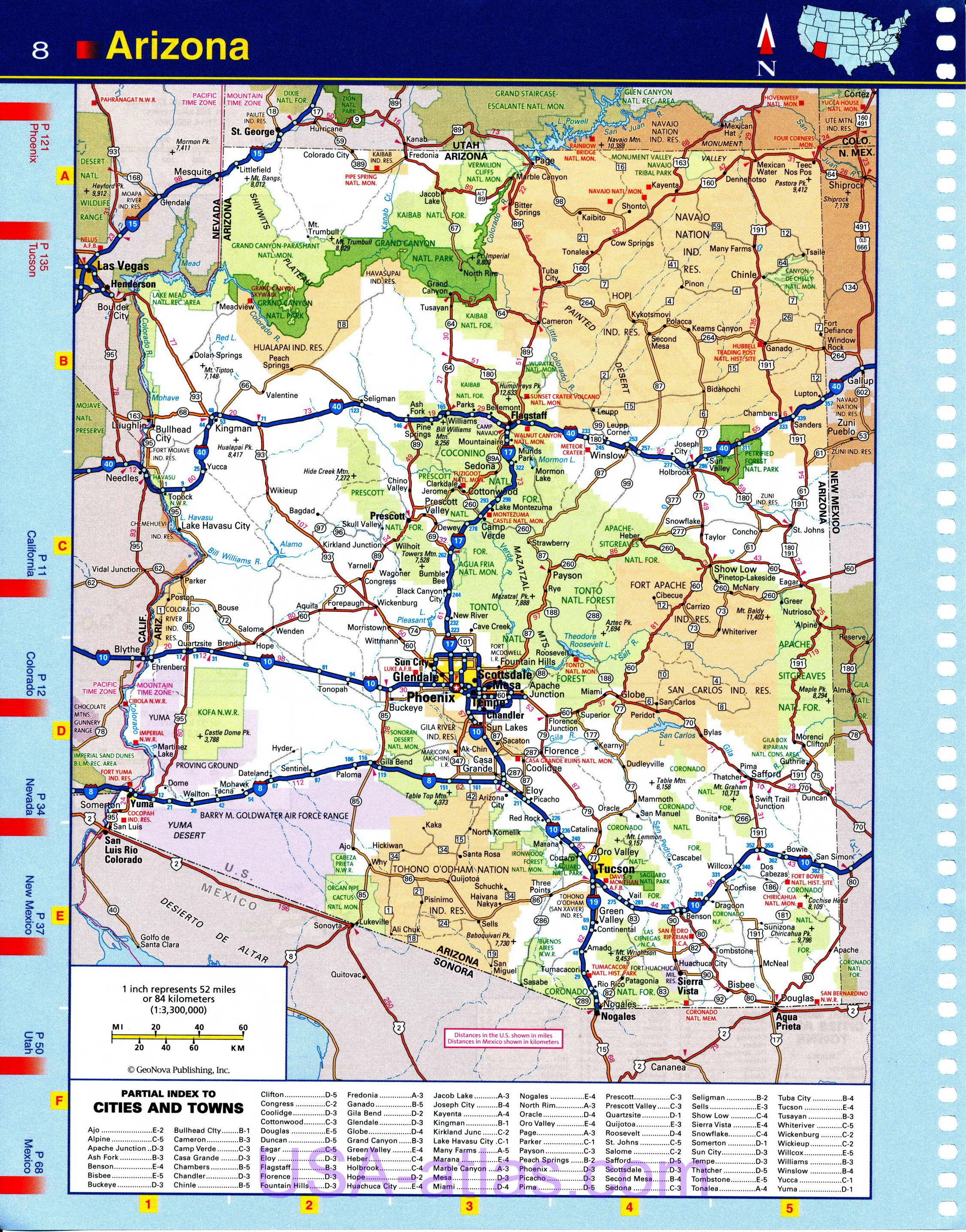 Map Of Arizona Automobile Detailed A Clear Map Of The Roads Of - Arizona map with cities