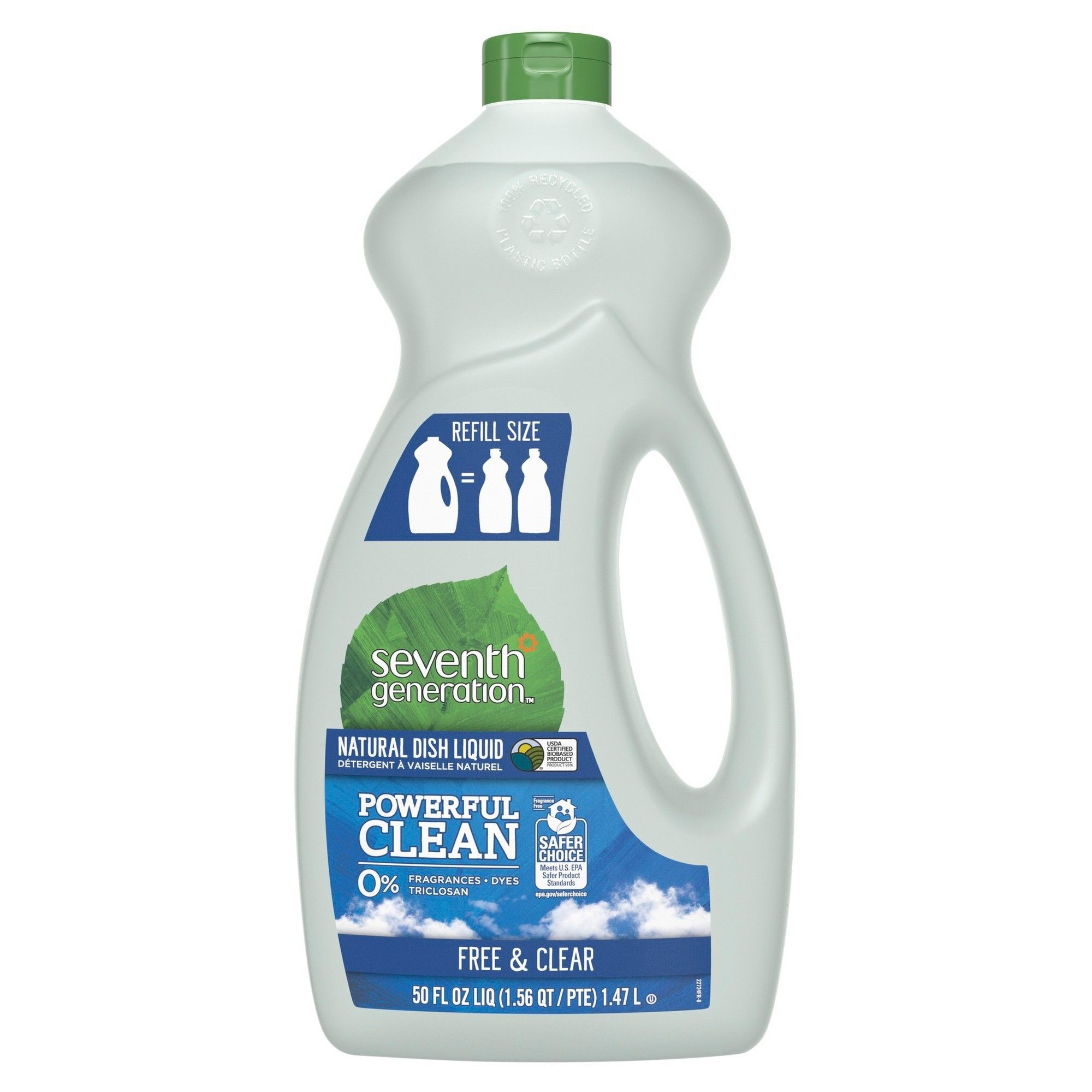 Seventh Generation Free Clear Natural Dish Liquid 50oz