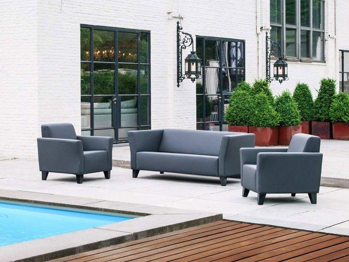 Gartensofa wetterfest  SOLO Lounge Garten Loungegruppe 5-teilig Livingruhm | Silvertex ...