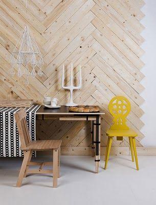 Lotta Agaton: Dagens Stylist Herringbone Wood Wall Pallet Wood Ideas Floor  Wall