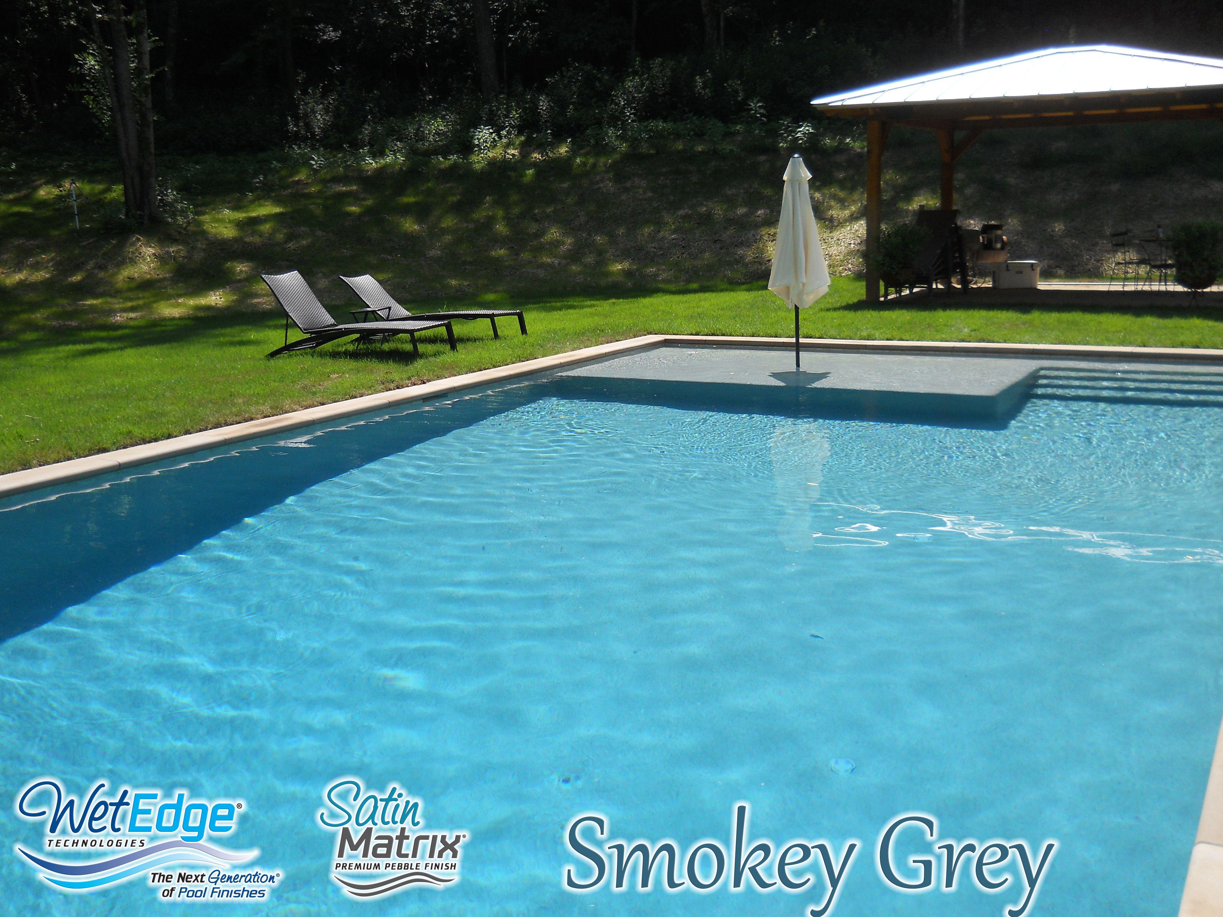 Satin Matrix Smokey Grey Pool Dealer California Concepts Installed By Asi Pool Plastering Pool Plaster