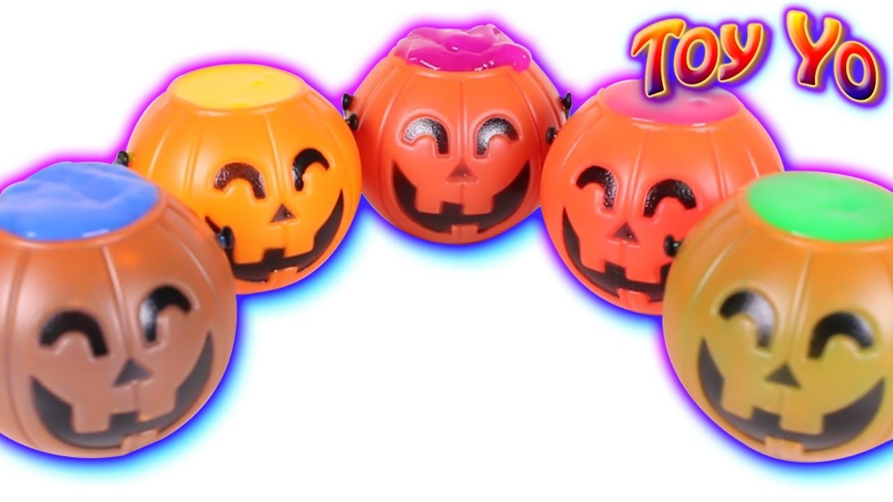 DIY Halloween Surprise Slime Jack O\'Lantern Candy Baskets, Learn ...