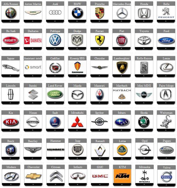 logos de toutes les marques