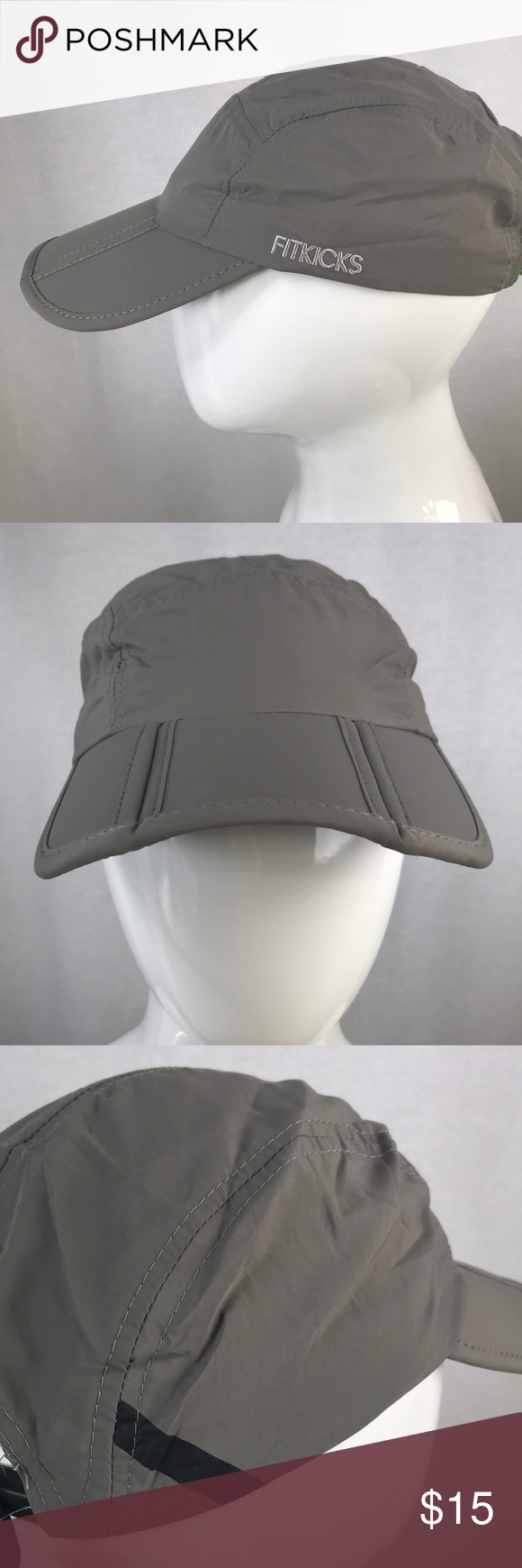 8ddba7914 NWT Gray FitKicks Folding Cap with UPF 50 New In Package Crush ...