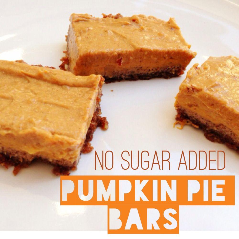Pumpkin Pie Bars Desserts: No Sugar Added Vegan Pumpkin Pie Bars