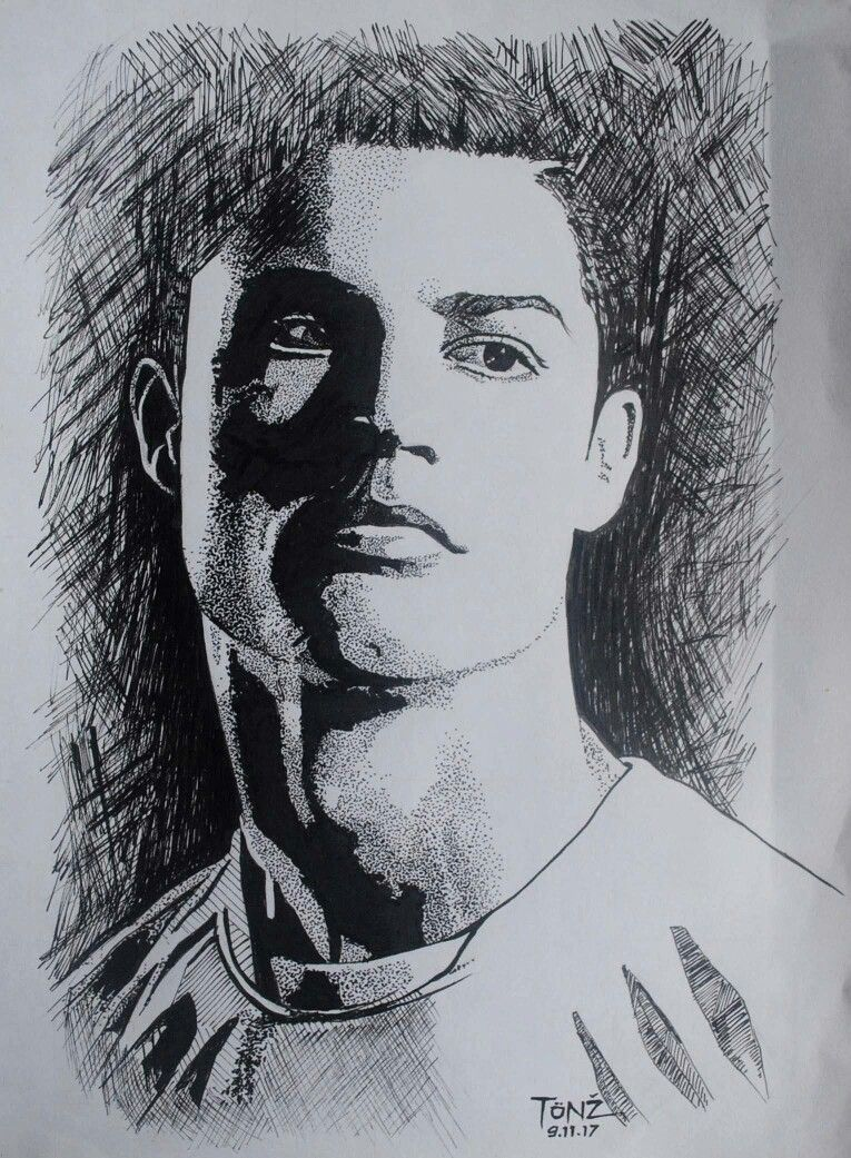 Cristiano Ronaldo. Pencil sketch. | Sketches, Portrait ...