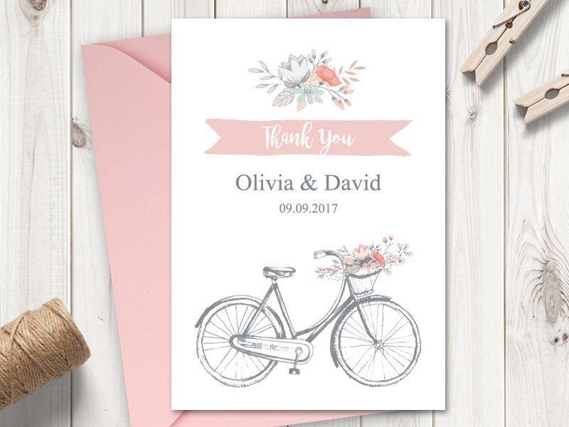 Printable Wedding Thank You Card Template \ - microsoft word thank you card template