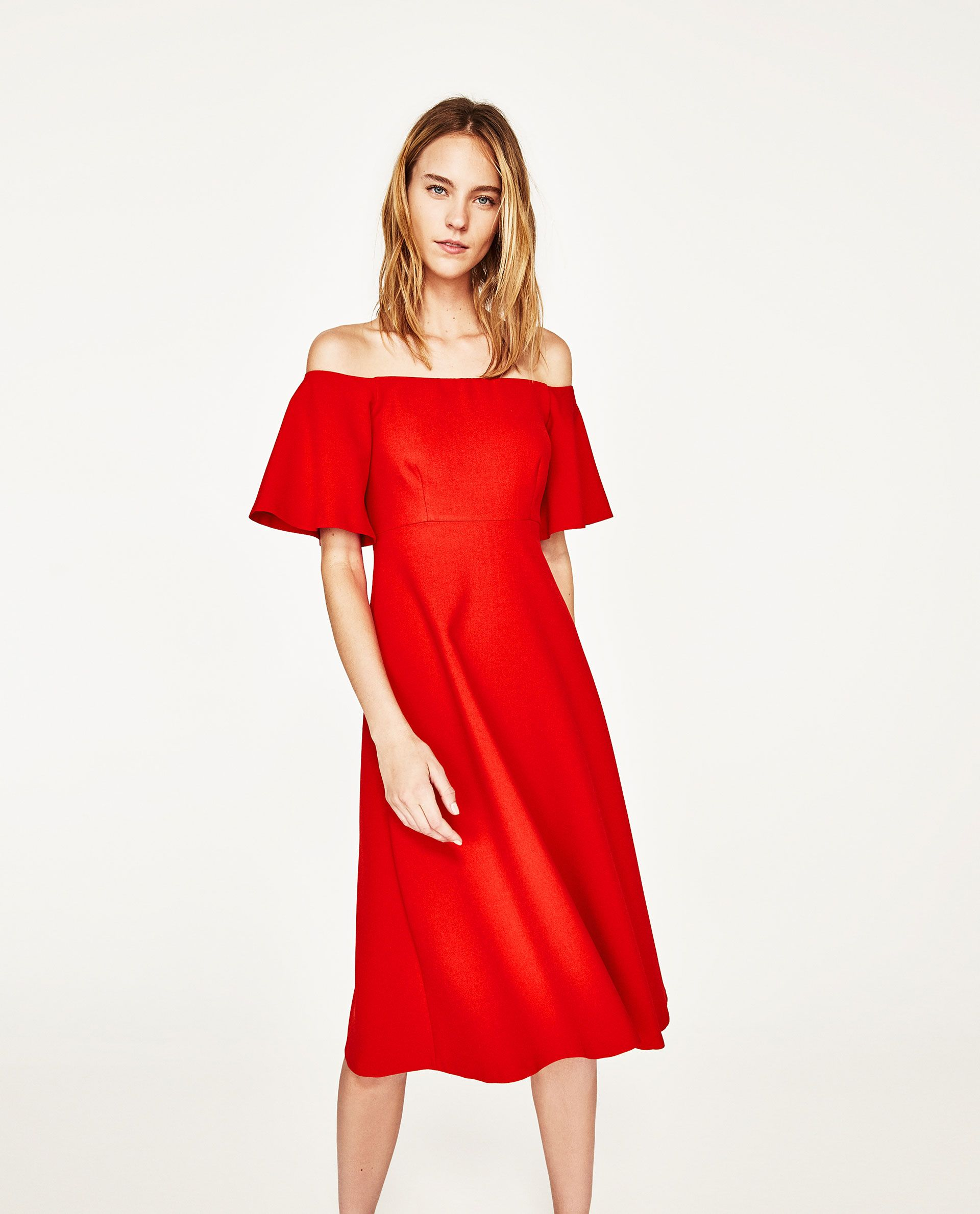83349bfc6b0 OFF-THE-SHOULDER DRESS | Zara | Dresses, Zara, Shoulder dress