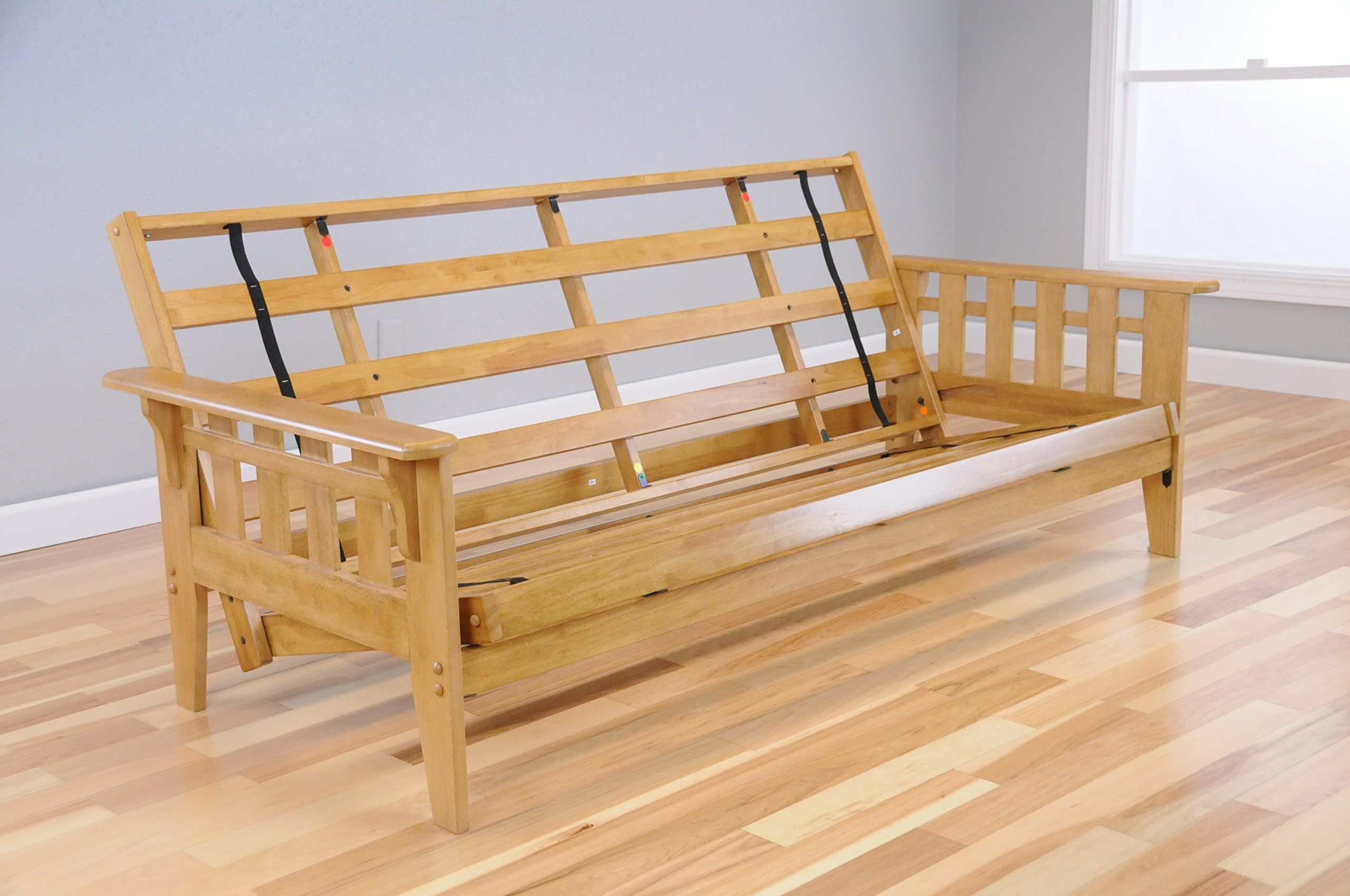 Wooden Futon Mission Style Maple Ernut Light Wood With Full Size Mattress And Optional Drawers For Storage Read More Reviews Of The Product By