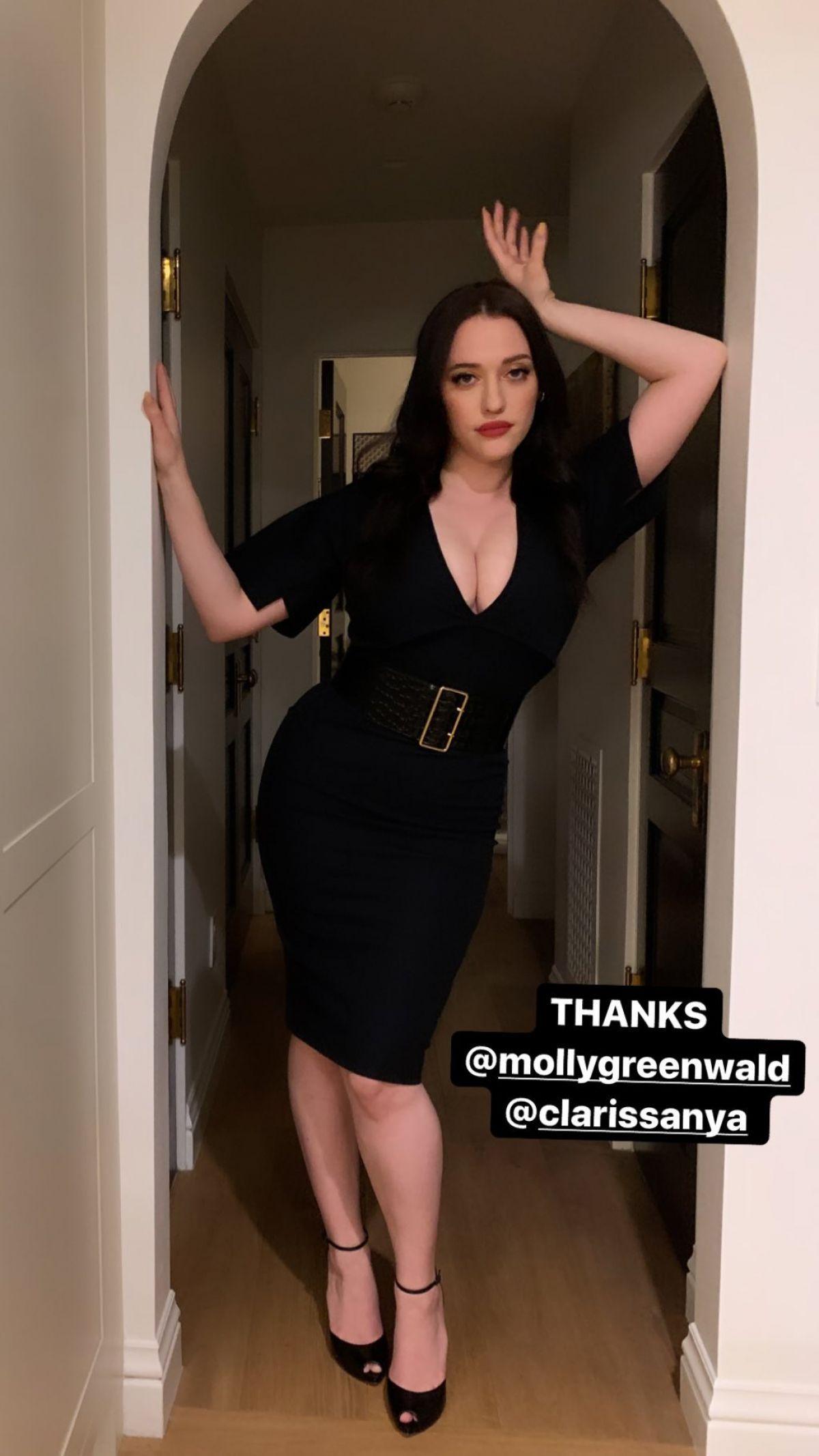 Kat Dennings In A Black Dress Instagram Photos 11 20 2019 Kat Dennings Curvy Girl Fashion Black Dress [ 2133 x 1200 Pixel ]