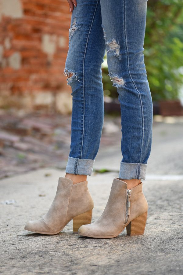 Taupe Booties #booties